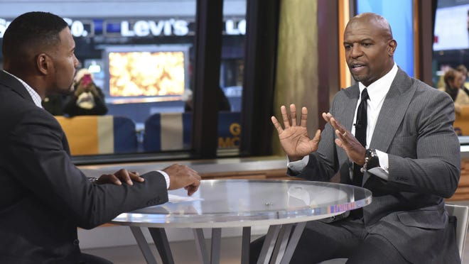 """Actor Terry Crews tells """"Good Morning America"""" co-host Michael Strahan during a segment Nov. 15 that he """"never felt more emasculated"""" than when Hollywood agent Adam Venit groped him at a party last year."""