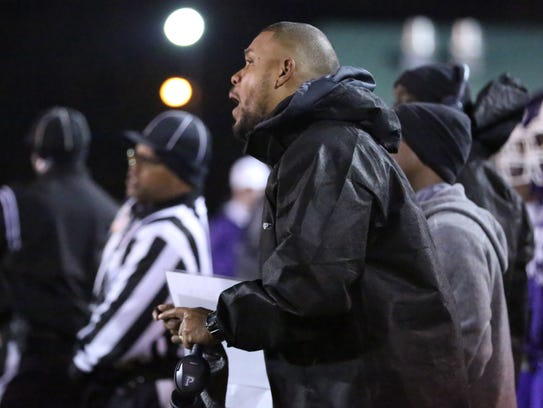 Haywood coach Steve Hookfin yells instruction as the