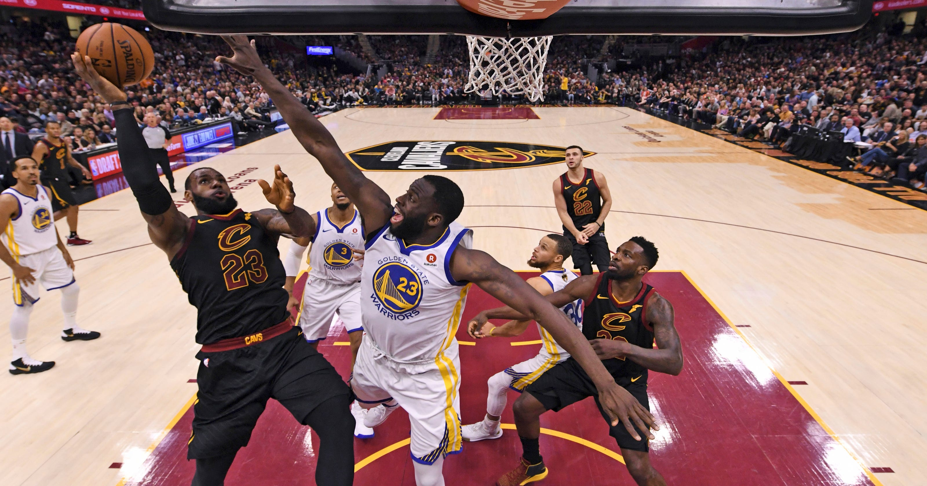 brand new 73591 a2dd3 LeBron says after NBA Finals that he played with broken hand