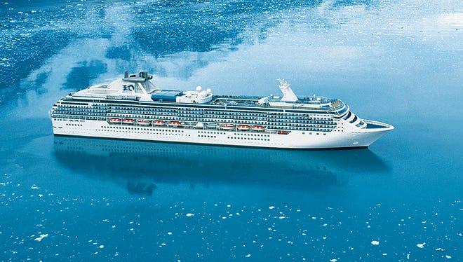 An aerial view of Princess Cruises' Coral Princess.