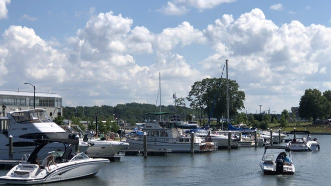 A lively boating scene at the public Port of Rochester Marina on a lovely summer day in Charlotte. Expect more of the same weather today and throughout the week ahead.