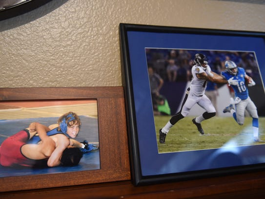 Photos of Jace Billingsley are seen in his family home