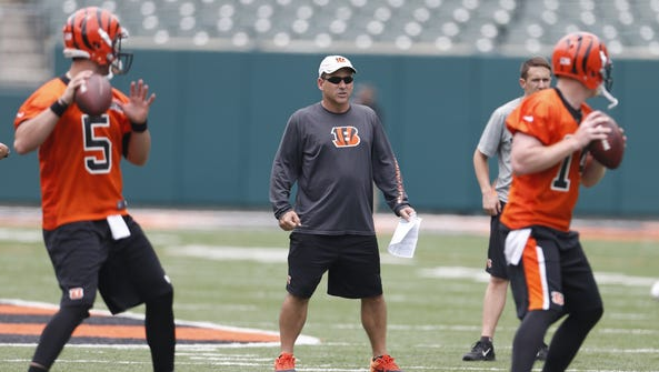 Ken Zampese (center) should keep the offensive continuity