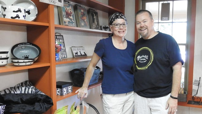 Cathy and Brad Fuller are opening the Good Boy Bakery in Roscoe Village. The bakery opens on Friday and will sell dog treats and other pet items.
