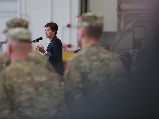 Lieutenant Governor, Kim Reynolds speaks during the
