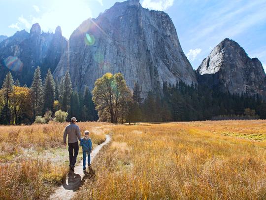 Family in Yosemite