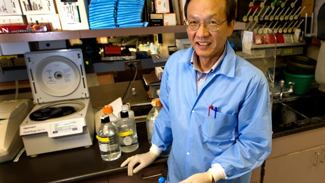 This undated photo courtesy of Stanford University shows  Aaron Hsueh, PhD, professor of obstetrics and gynecology at Stanford University, who developed a technique that can induce the ovaries of infertile women to make eggs.
