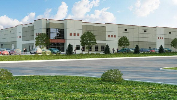 NorthPoint Development plans to build a 750,000 square foot distribution center in Springettsbury Township. The company has said the building would look similar to this rendering of one of their other projects.