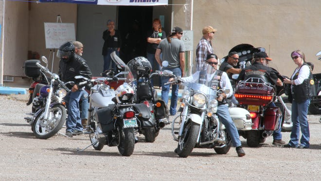 Motorcyclists get ready to leave the parking lot of the Eagles, 471 24th St., to start their La Luz 4H/Eagles Run to Beat Cancer Saturday. 4H and the Eagles raised $6,970 for CAPPED.