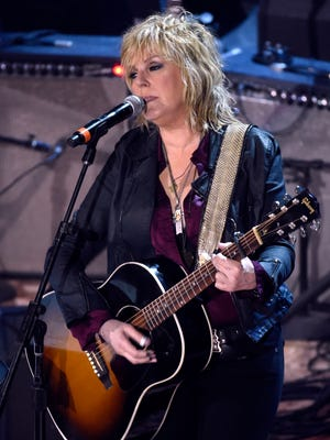 Lucinda Williams performs during the Americana Music Honors & Awards at the Ryman Auditorium Wednesday Sept. 16, 2015, in Nashville, Tenn.