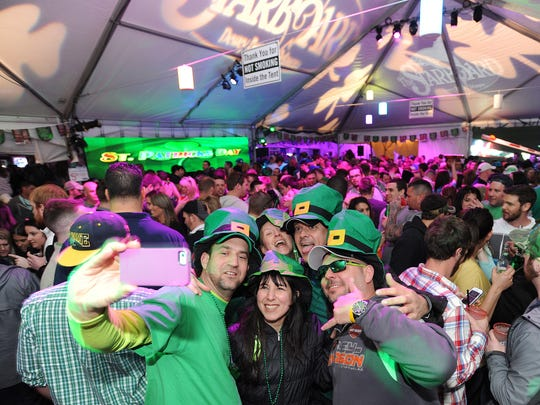 A selfie in the making at a recent St. Patrick's Day party at Dewey Beach's Starbaord.