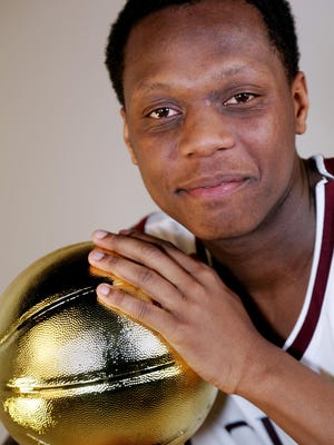 Cassius Winston became the 36th recipient of the Hal Schram Mr. Basketball Award in Detroit on Monday, March 21, 2016. Photograph by Romain Blanquart