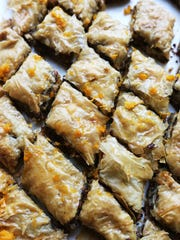 Kalamata Baklava prepared In the Detroit Free Press Test Kitchen Thursday, July 28, 2016. Regina H. Boone/Detroit Free Press