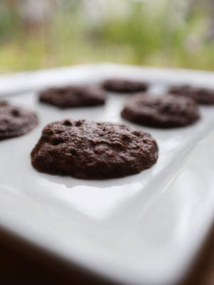 Brownie zucchini cookies prepared in the Detroit Free Press Test Kitchen Sept. 8, 2016.