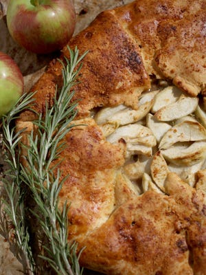 Savory Apple and Rosemary Galette dessert recipe blends both sweet and savory flavors for the perfect end to the feast.