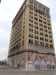 Eddystone building on Park and Sproat streets in Detroit.