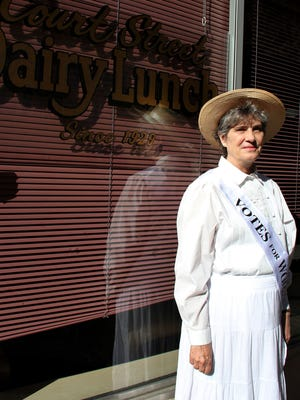 Sancha Duniway Alley will discuss her suffragette great-grandmother, Abigail Scott Duniway and her campaign across Oregon with Susan B. Anthony for women's voting rights on Wednesday. The presentation will be held at 7 p.m. at the Trinity Ballroom of the Reed Opera House.