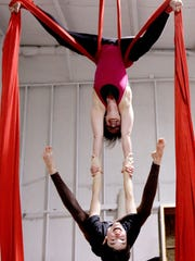 Instructor Sarah Hoggatt (top) and Jill Summers of