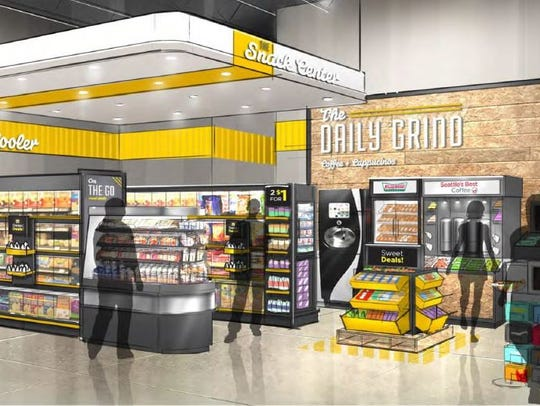 The Daily Grind area inside a DGX store, one of which