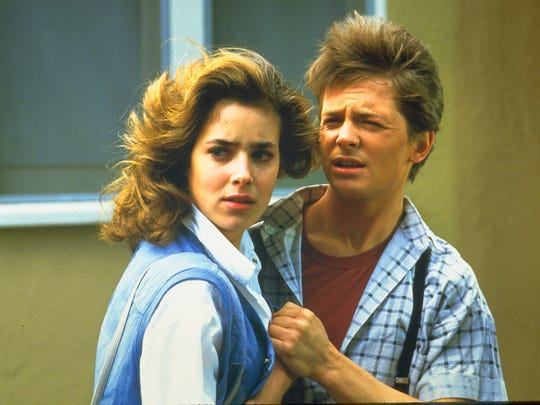 Claudia Wells and Michael J. Fox in 'Back to the Future.'