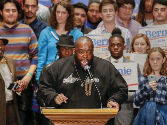 Bernie Sanders campaign in Atlanta, Georgia, USA