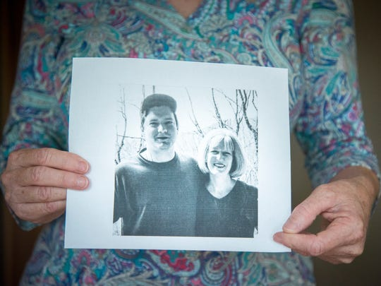 Anne Seaman had her husband William shoot this photo of her and her son Stuart on his cell phone.