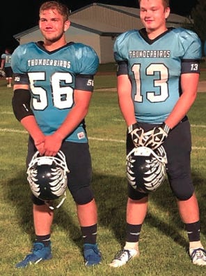 Eli Temananson and Colton Gatton played for the Skyline Thunderbirds in the 2019 season. The two seniors were nominated to play in the annual Eight-Man All-Star game in Beloit this weekend, but it was canceled due to COVID-19 concerns.