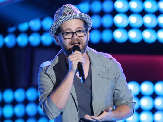"""Hoosier singer Josh Kaufman performs during the """"blind auditions"""" phase of NBC's """"The Voice."""""""