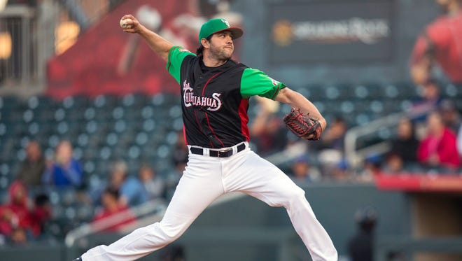 Fort Defiance graduate Chris Huffman pitches for the El Paso Chihuahuas, the San Diego Padres' Triple A franchise, against the Las Vegas 51s on April 13, 2018, at Southwest University Park in El Paso, Texas.