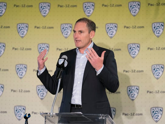 Pac-12 Commissioner Larry Scott.