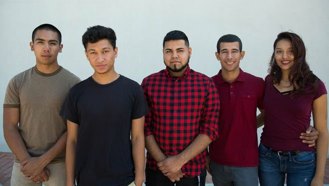 Carlos Corral,18, Brandon,20, Irvin,20 Jefferson Taborda,23 young immigrants who are all currently under the deferred action for childhood arrivals or DACA and Jocelyn Ortiz, Taborda's fiancé