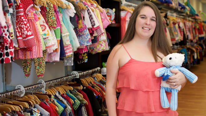 Joanna Shotts owns the Buttons and Bows Baby and Toddler Consignment Store on Merritt Island.
