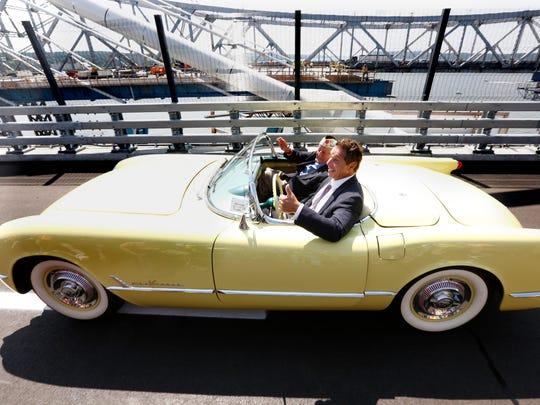 """Pearl Harbor survivor Armando """"Chick"""" Galella drives"""