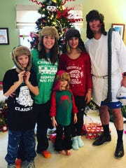 Griswold Attire – Some families do the matching pajamas and some families do the ugly sweater thing. The Schmidts - Charlie, Jayma, Jillian, Scott, and Josie Kate, ramped up the fun and put together a Griswold (Christmas Vacation) fashion statement, with Cousin Eddie taking top honors.