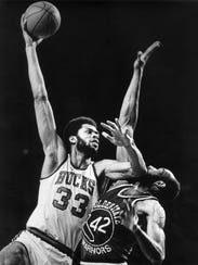 Kareem Abdul-Jabbar played for the Milwaukee Bucks from 1969 to 1975, and then the Los Angeles Lakers until 1989.