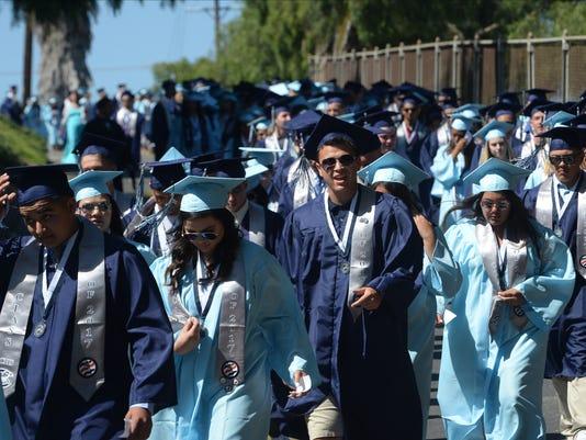 Adolfo Camarillo High School graduation 7