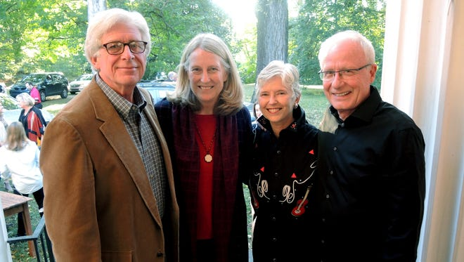Rich and Nancy Rhoda, left, and Jeanie Nelson and Will Martin at Once in a Blue Moon, a fundraiser for The Land Trust for Tennessee, held at Glen Leven Farm.