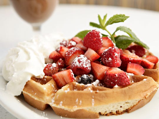 The fruit-topped Belgian Waffle from Morning Squeeze.