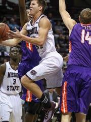 Missouri State Bears Ryan Kreklow attempts a layup