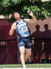 Becker's Dillon Radunz took sixth in the shot put Friday at the state Class 2A track and field championships at Hamline University in St. Paul.