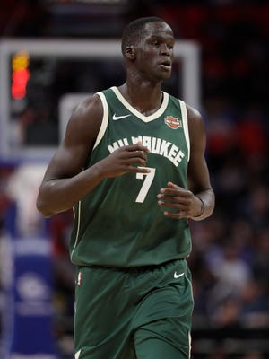 Bucks center Thon Maker appreciates the opportunity to work with former NBA star Kevin Garnett.