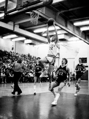 Boys' Basketball Jamboree game, Rutherford High School vs. Demarest High School, Feb. 24, 1985.