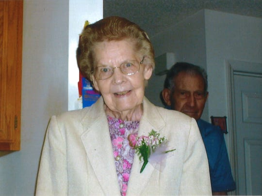 Gladys Graham, at her 90th birthday party, May 6, 2014.