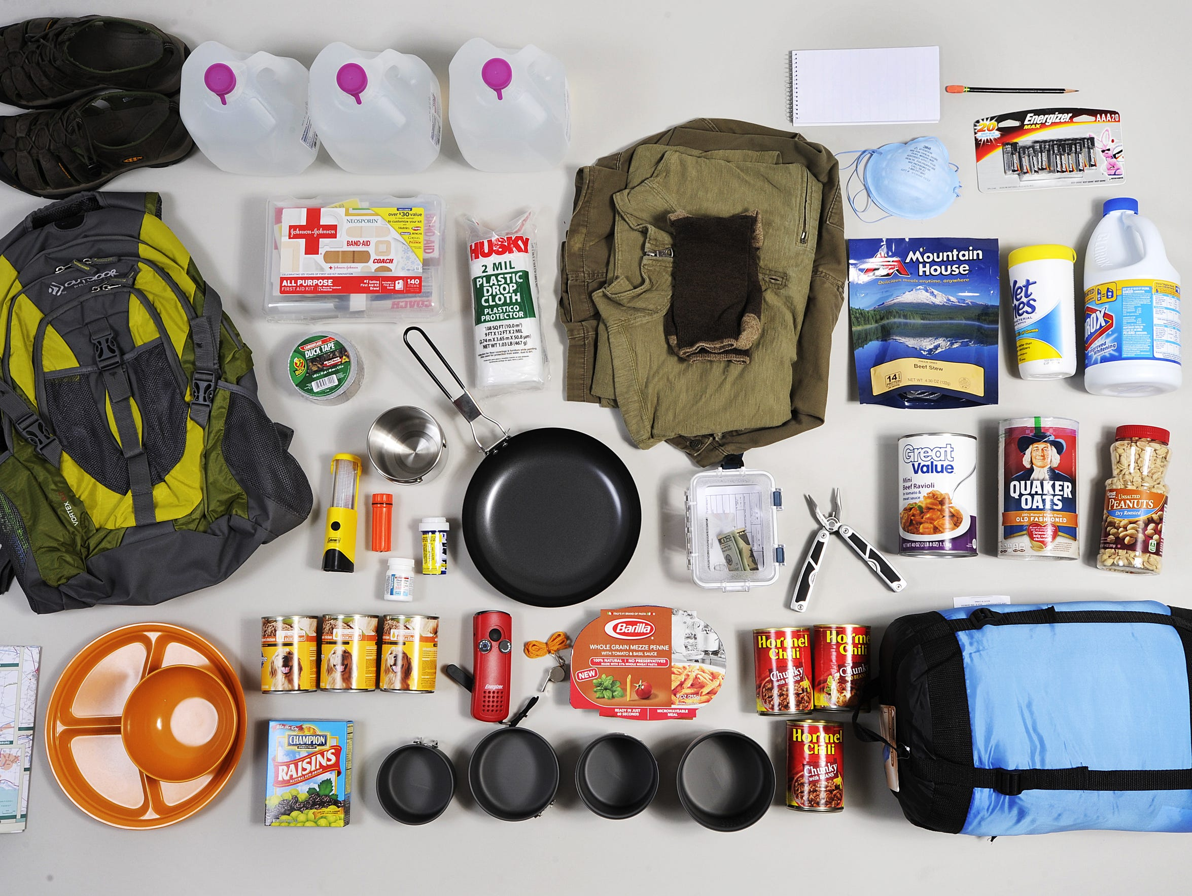 A small sample of what preppers store.