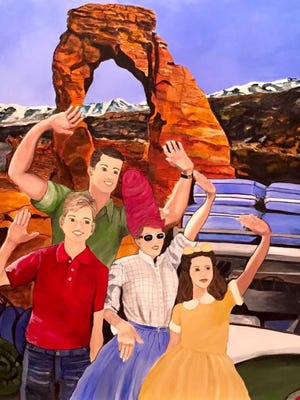 "Stephanie Deer's ""Family Vacation"" on display at the Frontier Homestead State Park in Cedar City."