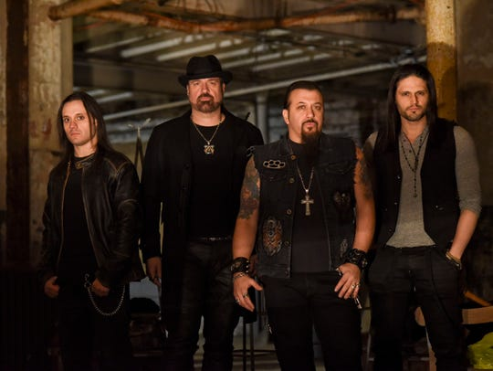 Adrenaline Mob, from left: Jordan Cannata, Russell
