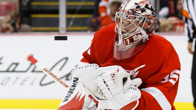 Detroit Red Wings goalie Jimmy Howard went to the U.S. Olympic orientation camp in August.