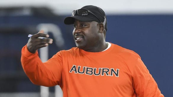 Auburn defensive backs coach Wesley McGriff is trying