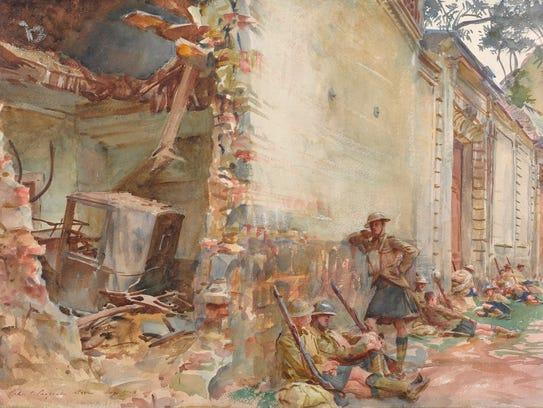 """John Singer Sargent (1856-1925). """"A Street in Arras,"""""""