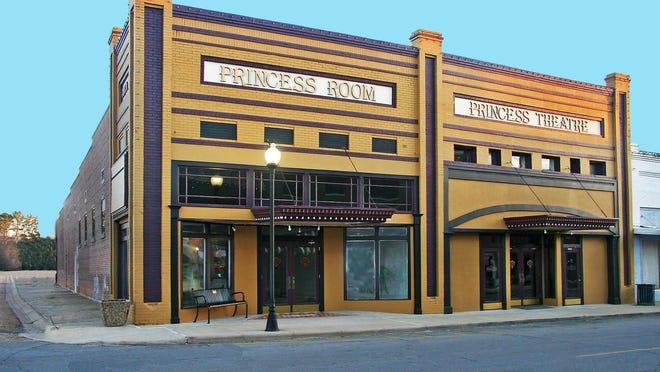 The Princess Room and Princess Theatre on Prairie Street in Winnsboro.`